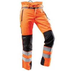 Ventilation Schnittschutzhose Pfanner orange EN 20471